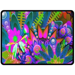 Wild Abstract Design Double Sided Fleece Blanket (Large)
