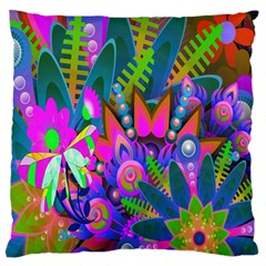 Wild Abstract Design Large Flano Cushion Case (Two Sides)