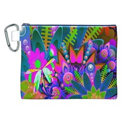 Wild Abstract Design Canvas Cosmetic Bag (xxl)