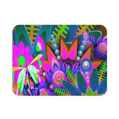 Wild Abstract Design Double Sided Flano Blanket (mini)