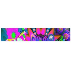Wild Abstract Design Flano Scarf (Large)