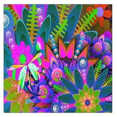 Wild Abstract Design Large Satin Scarf (Square)