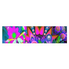 Wild Abstract Design Satin Scarf (oblong)