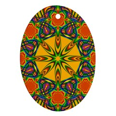 Seamless Orange Abstract Wallpaper Pattern Tile Background Ornament (oval)