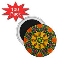 Seamless Orange Abstract Wallpaper Pattern Tile Background 1.75  Magnets (100 pack)