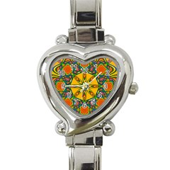 Seamless Orange Abstract Wallpaper Pattern Tile Background Heart Italian Charm Watch