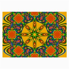 Seamless Orange Abstract Wallpaper Pattern Tile Background Large Glasses Cloth (2-Side)
