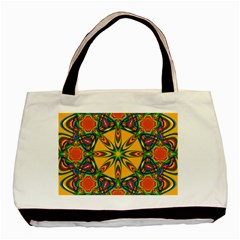 Seamless Orange Abstract Wallpaper Pattern Tile Background Basic Tote Bag (two Sides)