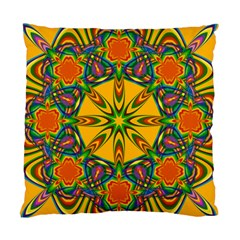 Seamless Orange Abstract Wallpaper Pattern Tile Background Standard Cushion Case (one Side)