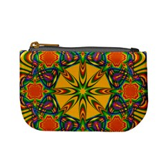 Seamless Orange Abstract Wallpaper Pattern Tile Background Mini Coin Purses