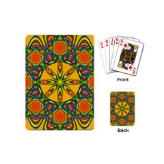 Seamless Orange Abstract Wallpaper Pattern Tile Background Playing Cards (mini)