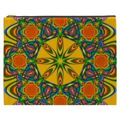 Seamless Orange Abstract Wallpaper Pattern Tile Background Cosmetic Bag (XXXL)