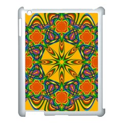 Seamless Orange Abstract Wallpaper Pattern Tile Background Apple iPad 3/4 Case (White)