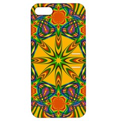 Seamless Orange Abstract Wallpaper Pattern Tile Background Apple iPhone 5 Hardshell Case with Stand