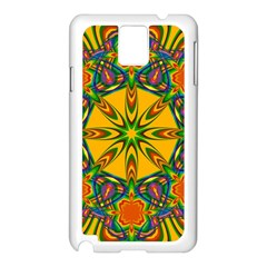 Seamless Orange Abstract Wallpaper Pattern Tile Background Samsung Galaxy Note 3 N9005 Case (White)