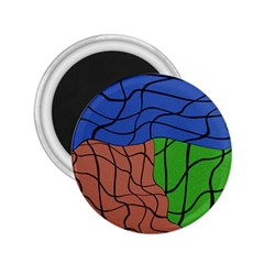 Abstract Art Mixed Colors 2 25  Magnets