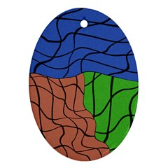 Abstract Art Mixed Colors Ornament (Oval)