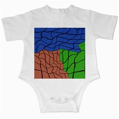 Abstract Art Mixed Colors Infant Creepers