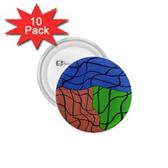 Abstract Art Mixed Colors 1 75  Buttons (10 Pack)