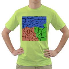 Abstract Art Mixed Colors Green T-Shirt