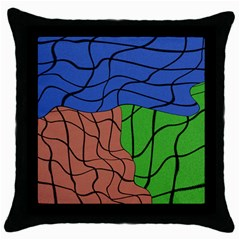 Abstract Art Mixed Colors Throw Pillow Case (black)