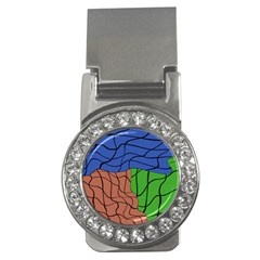 Abstract Art Mixed Colors Money Clips (cz)