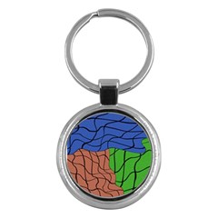 Abstract Art Mixed Colors Key Chains (Round)