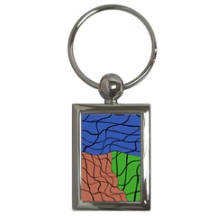 Abstract Art Mixed Colors Key Chains (Rectangle)