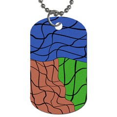 Abstract Art Mixed Colors Dog Tag (One Side)