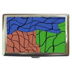 Abstract Art Mixed Colors Cigarette Money Cases