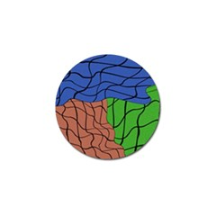 Abstract Art Mixed Colors Golf Ball Marker (4 pack)