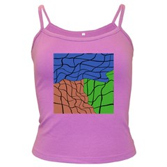 Abstract Art Mixed Colors Dark Spaghetti Tank