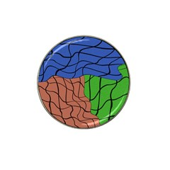 Abstract Art Mixed Colors Hat Clip Ball Marker (10 pack)