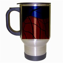 Abstract Art Mixed Colors Travel Mug (Silver Gray)