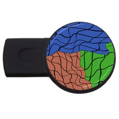 Abstract Art Mixed Colors USB Flash Drive Round (4 GB)