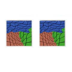 Abstract Art Mixed Colors Cufflinks (Square)