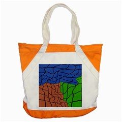 Abstract Art Mixed Colors Accent Tote Bag