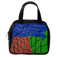 Abstract Art Mixed Colors Classic Handbags (One Side)