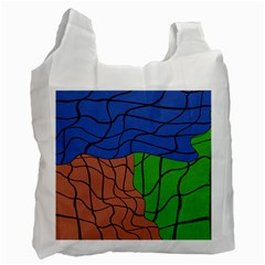 Abstract Art Mixed Colors Recycle Bag (two Side)