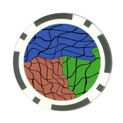 Abstract Art Mixed Colors Poker Chip Card Guard (10 Pack)