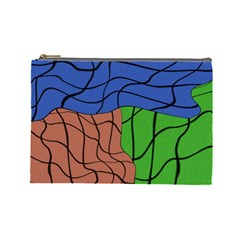 Abstract Art Mixed Colors Cosmetic Bag (large)
