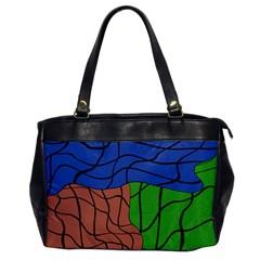 Abstract Art Mixed Colors Office Handbags