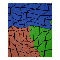 Abstract Art Mixed Colors Shower Curtain 60  X 72  (medium)