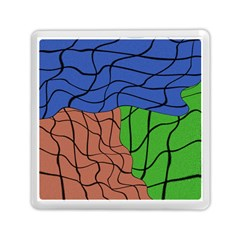 Abstract Art Mixed Colors Memory Card Reader (square)