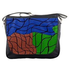 Abstract Art Mixed Colors Messenger Bags