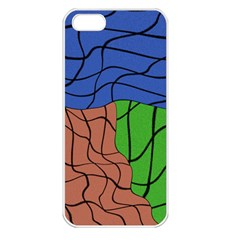 Abstract Art Mixed Colors Apple iPhone 5 Seamless Case (White)