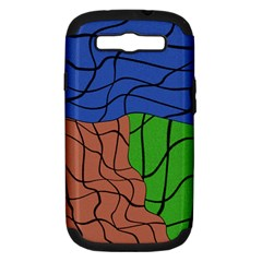 Abstract Art Mixed Colors Samsung Galaxy S III Hardshell Case (PC+Silicone)