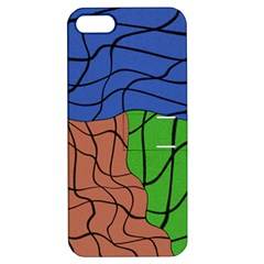 Abstract Art Mixed Colors Apple iPhone 5 Hardshell Case with Stand
