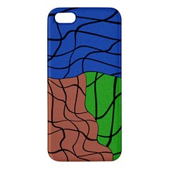 Abstract Art Mixed Colors Apple Iphone 5 Premium Hardshell Case
