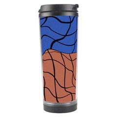 Abstract Art Mixed Colors Travel Tumbler
